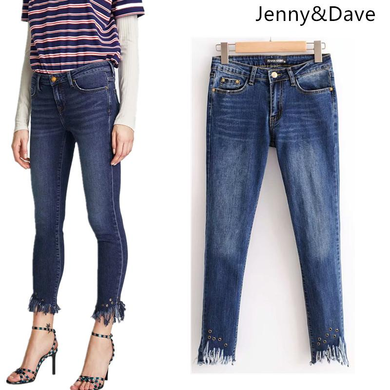 ac2d9ed57ed Jenny Dave Jeans Woman Ankle-length Pants Button Fly Jeans Women ...