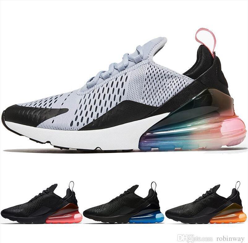 buy popular 08ead 79cec New 270 Men Running Shoes Women Sneakers Trainers Male Sports Men Athletic  Jogging Walking Outdoor Shoes Triple Black Ah8050 005 Jogging Shoes Sale  Shoes ...