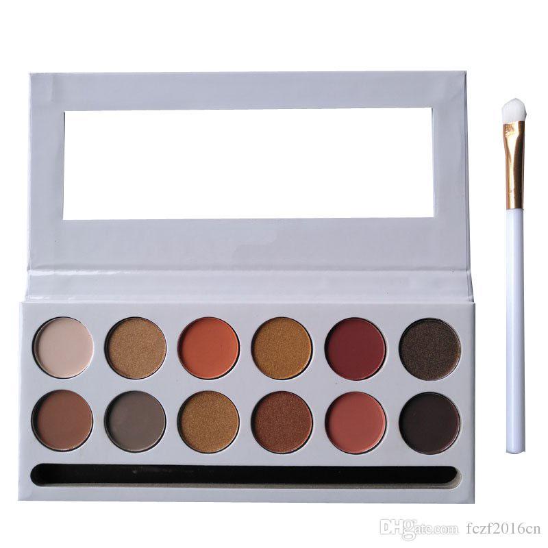 Palette de fard à paupières bronze 12 couleurs La palette de fards à paupières bronze élargie avec plume de pinceau