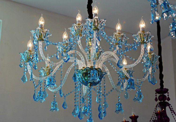 Lampadario Stile Rustico : Acquista lampadario moderno regron lampadario a led blu lampadario