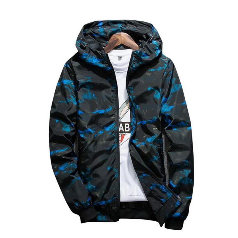 3e7cc7c669c4 2018 Vertvie Camo Print Jacket Men Hip Hop Slim Fit Running Jacket ...