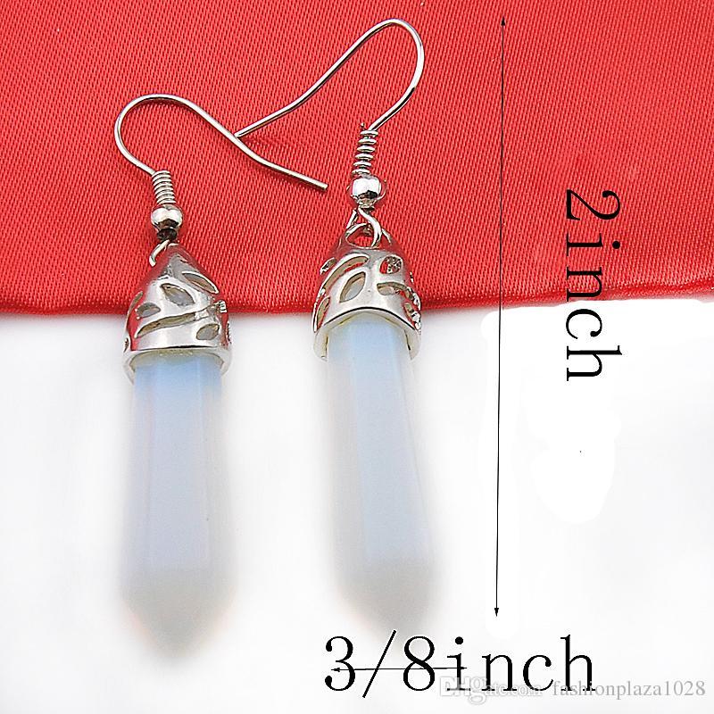 5 쌍 1 많은 Luckyshine 친구 선물 기하학 자연 결정 925 순은 귀걸이를 귀걸이 러시아 미국 호주 결혼식 귀걸이