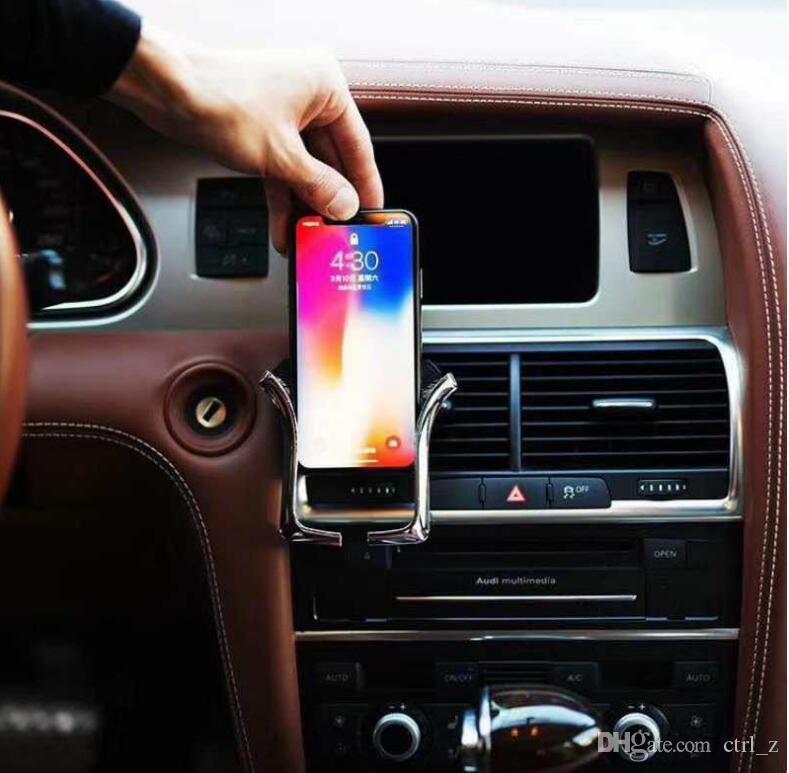 Supporto mobile auto Supporto U Supporto presa d'aria Supporto regolabile smartphone GPS da 4,0-6,0 pollici con confezione al dettaglio