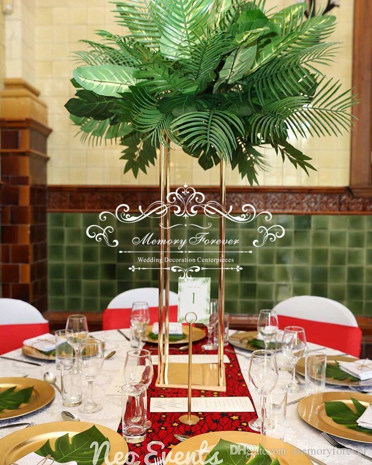 Metal Flower Vase Frame European Style Artificial Columns Marriage