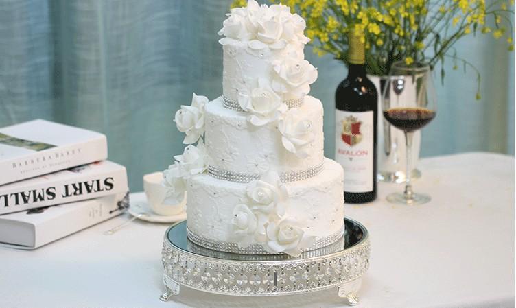 Kristall Hochzeitstorte Stehen 12 Zoll Hochzeitstorte Werkzeuge Fondant Brot Shop Kuchen Dekorieren Lieferungen Dessert Tisch Blume Knallt