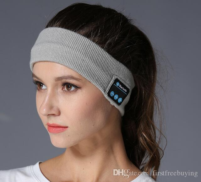 bluetooth Headband Earphone For Yoga dancing running Sport Cap Headset Wireless Head Band Earplug Music Player Handfree Beanie