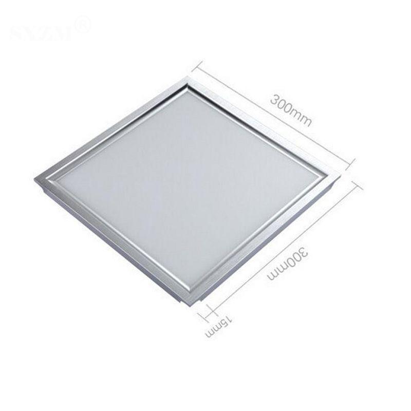 24W LED panneau lumineux 300x300 carré lampada haute lumineux led plafonnier intérieur blanc / blanc chaud avec conducteur led étanche