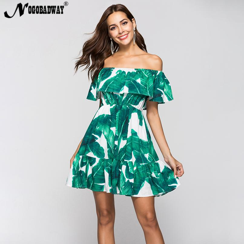 595e9f48b2 Summer off shoulder boho sundress women 2018 print sexy short beach dress  vintage casual sleeveless mini robe femme bohemian new