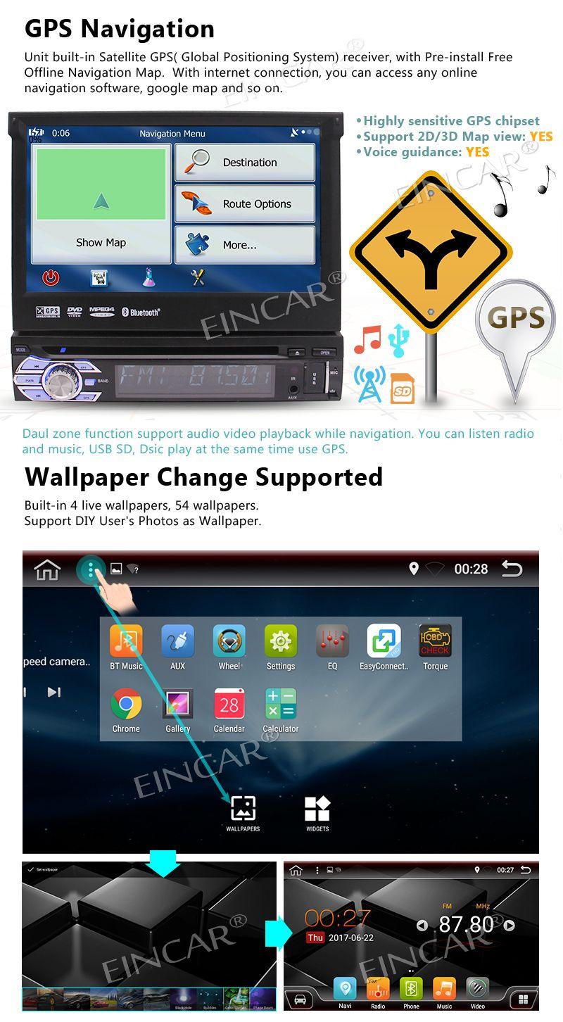 Câmera Traseira Incluída !!! Android 6.0 Estéreo 1Din Car DVD Player Unidade de Cabeça de Rádio De Áudio GPS Suporte Wifi OBD Cam-in AV Subwoofer