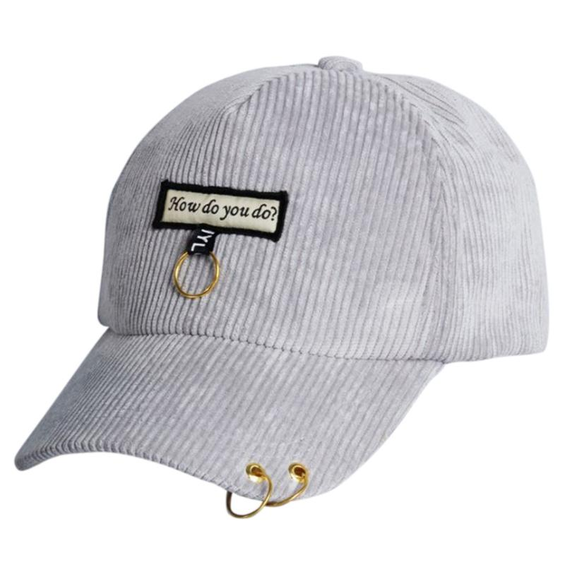 Hot Baseball Cap Fashion Corduroy Embroidered Letters Hat Unisex Hip ... fff021544698