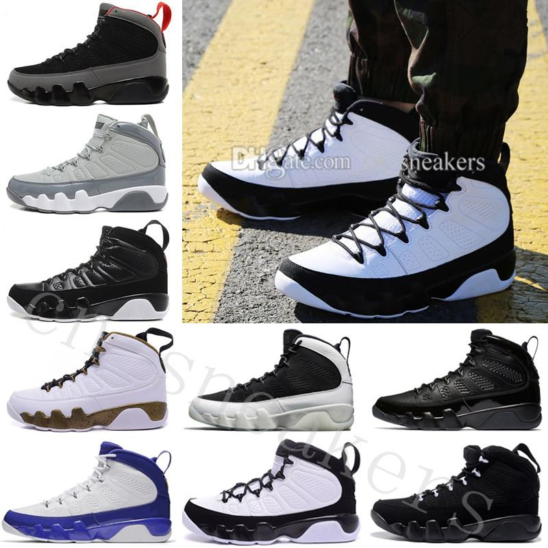 fda9fdb482cc Mens DMP-Like High Quality 9 LA 2018 9s Casual Shoes Black Summit White- Black-Metallic Gold Trainers Sneaker Designer Size Eur 40-47 Online with ...