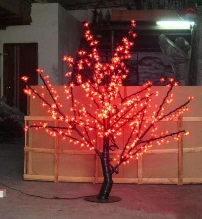 1.5 m hauteur 5 pieds blanc LED arbre de fleurs de cerisier extérieur / intérieur mariage décoration de jardin de vacances lumière 480 LED