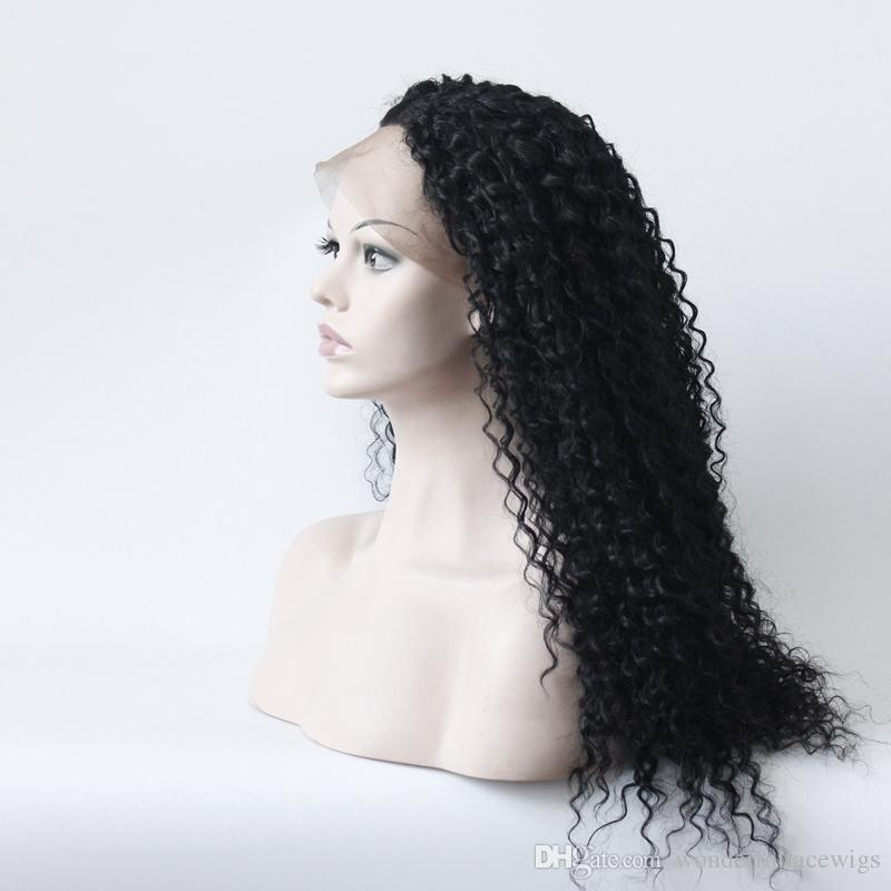 Synthetische Lace Front Perücke Kinky Curly Hitzebeständige Glueless Afroamerikaner Perücke Seitenteil Natürlicher Haaransatz Schwarze Damen Lace Front