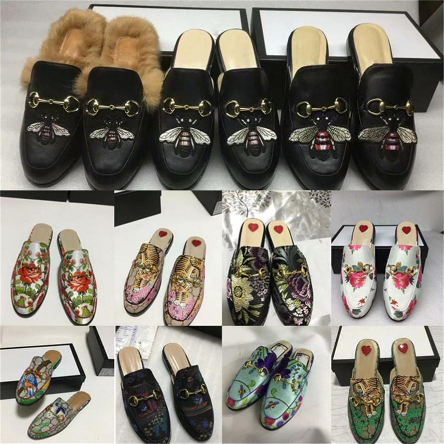 dbbab9d57fd Princetown Embroidered Hawaiian Print Satin Women S Slippers Mules Loafer  Shoes Print Leather SlipperLuxury Brand Sandals 0G24 Girls Shoes Bearpaw  Boots ...