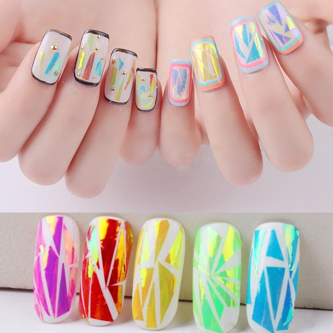 Polar Lights Starry Sky Nail Foils Nail Art Transfer Stickers Decals