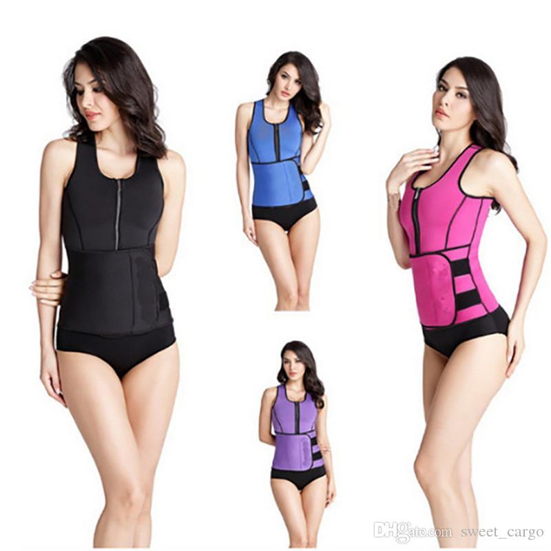 c8611c75b00fb Women Neoprene Body Shaper Slimming Vest Thermo Waist Trainer Sauna Vest  Adjustable Belt Corset Plus Size Workout Shapewear S-4XL Online with   12.9 Piece on ...