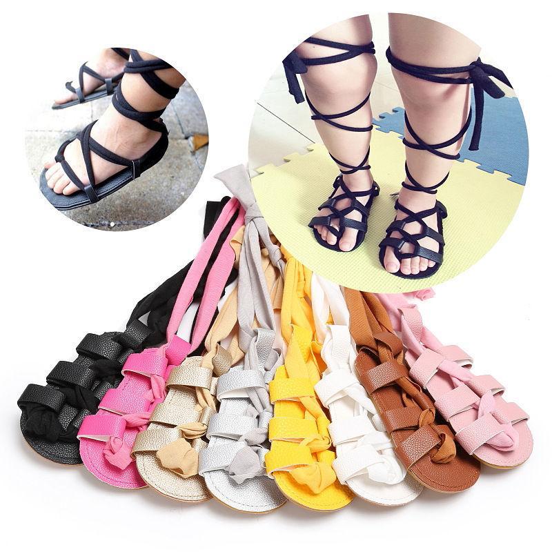 Summer Sandals Kids Girls Fashion Newborn Infant Baby Girl PU Leather High  Bandage Sandals Solid Hollow Out Girls Shoes 0 18M Girl Shoes Online Best  Toddler ... a97a6217c30c