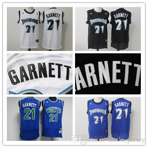 reputable site 1c58c 13c8a Retro Mens 21 Kevin Garnett Minnesota Timberwolves Basketball Jerseys  Authentic Stitched Classic Kevin Garnett Retro Basketball Jerseys