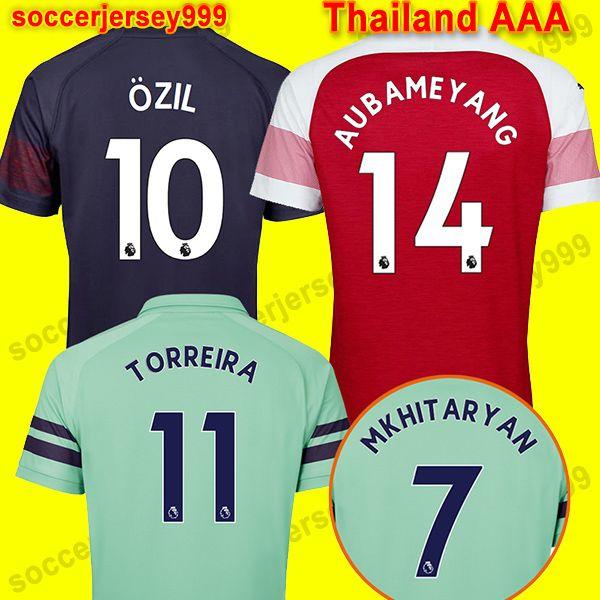 Tailandia Arsenal Soccer Jersey Football Shirt Jersey De Fútbol Uniformes  De Fútbol 18 19 AUBAMEYANG LACAZETTE 2018 2019 Camiseta De Fútbol RAMSEY  OZIL ... c2a29174bc945