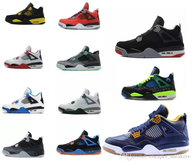 d0169f4f6e45af Men Basketball Shoes 4 Military Motosports Blue Alternate 89 Pure Money  White Cement Royalty Bred Fire Red Black Cat Oreo Shoe Carmelo Anthony Shoes  ...
