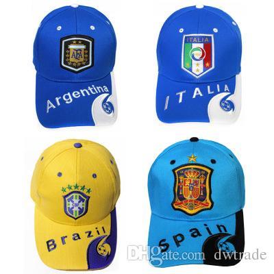 Compre World Cup 2018 Football Cap Fans Football Cheer Supplies Brasil  Argentina España Sombrero Sun Kids Hat Gorra De Béisbol A  5.7 Del Dwtrade   9a5ed750060