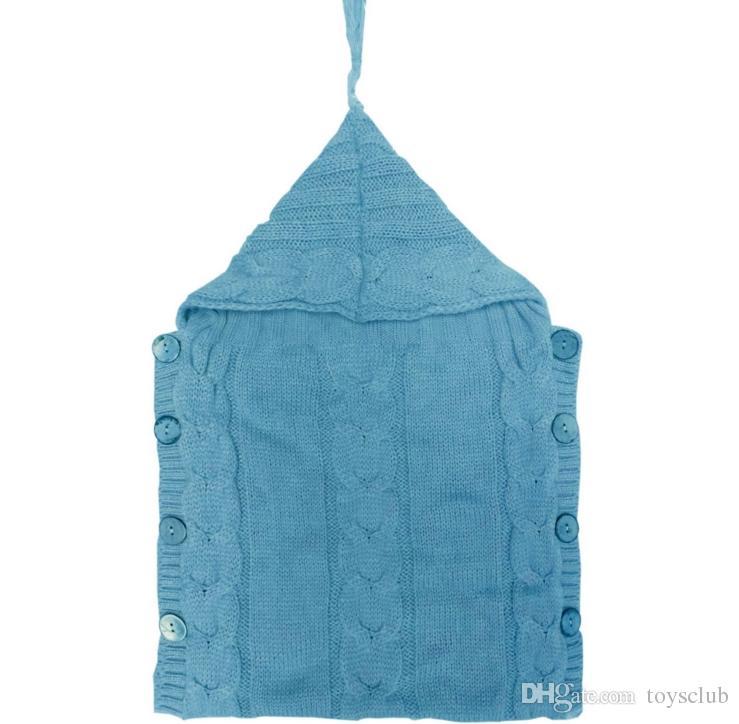 Baby Knitted Blankets Newborn Handmade Wraps Toddler Super Soft Sleeping Bags Kids Cotton Tassel Hat Winter Swaddling Nursery Bedding