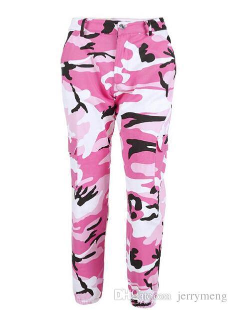 Fashion Hip Hop Pants Womens colorful Camouflage Pants high waist loose Camo Pant Trousers for women Harem Pants Dance