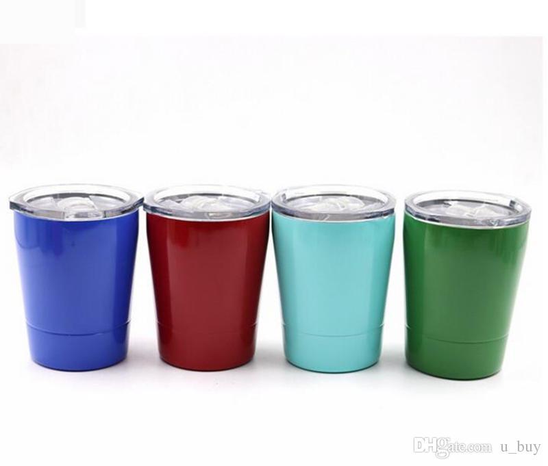 8.5 oz Paslanmaz Çelik Tumbler Şarap Cam Seyahat Araç Bira Kupa olmayan Vakum kupalar