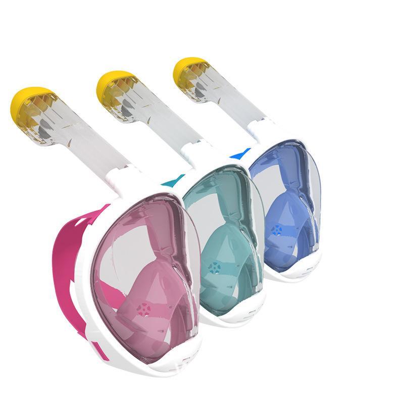 Máscara de buceo 6 estilos de buceo con snorkel conjunto de entrenamiento de natación Scuba Mergulho máscara de snorkeling de rostro completo con anti niebla de buceo anti niebla