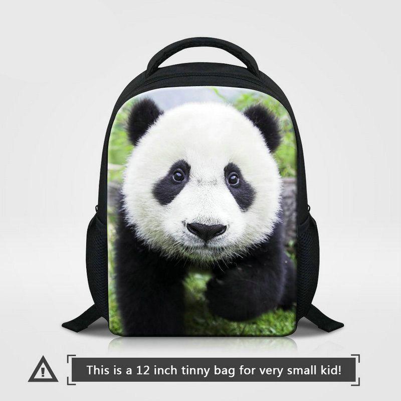 4adbbfd6b3f3 12 Inch Small Kindergarten School Bag For 0 5 Years Old Preschoolers Cute  Panda Animal Prints Children Backpack Boys Bagpacks Girls Knapsack Womens  ...