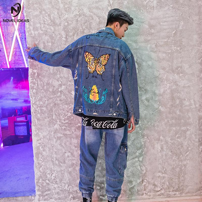 Novel Ideas Colorful Butterfly Embroidery Jean Jackets Patch Designs