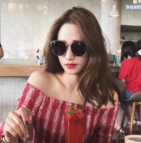 cd3ecc677f792 Compre O Novo Par De Óculos De Sol, O Rosto Redondo Feminino, Os Óculos De  Sol Sul Coreanos, Têm O Mesmo Tipo De Óculos Polarizados.