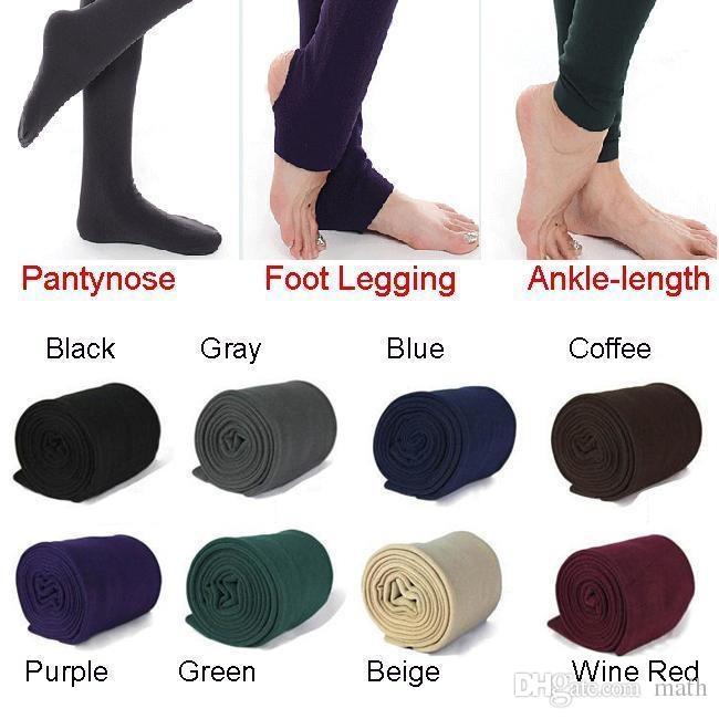 Женщины зима толстые теплый флис искусственный бархат подкладке леггинсы трикотажные толстые тонкие леггинсы колготки супер эластичные колготки ноги формирователь 500 шт.