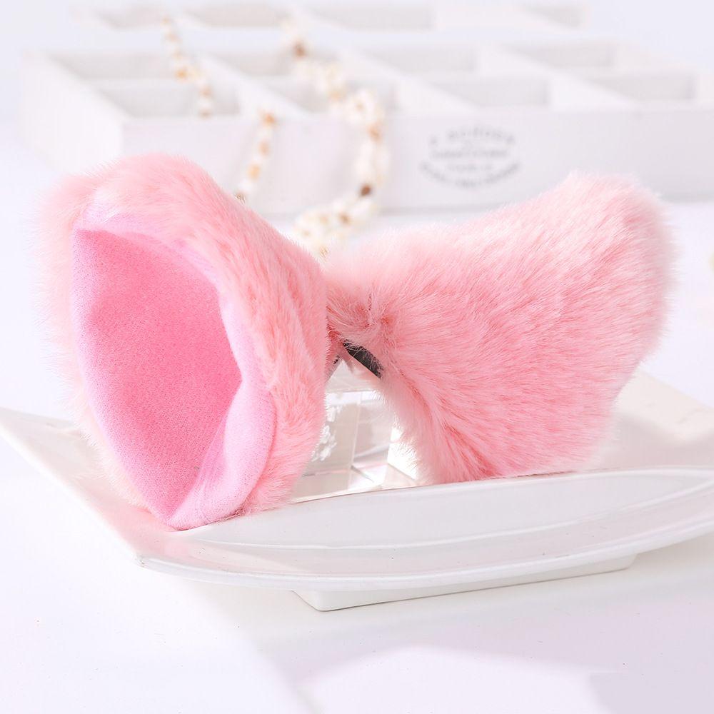 New Hair Accessories Girl Cute Cat Fox Ear Long Fur Hair Barrettes Anime Cosplay Party Costume