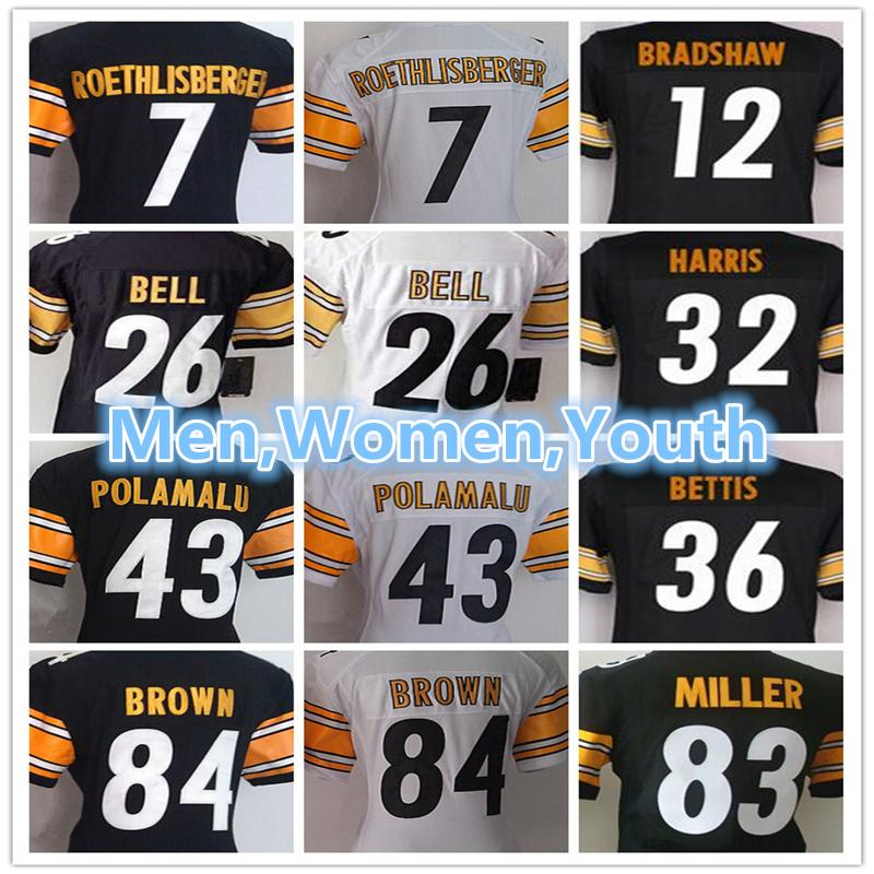 0d02277bf8c Men Women Youth Pittsburgh Steelers Jersey 26 Le Veon Bell 7 Ben ...