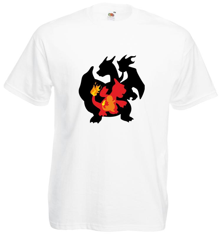 3337e6bc Evolution Of Charmander Men S Printed T Shirt Print T Shirt New