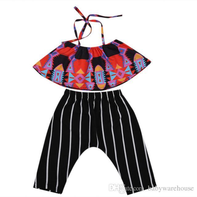 c9915dff12a9 2019 2018 Summer Boutique Girls Set Infant Kids Clothing Baby Girls ...
