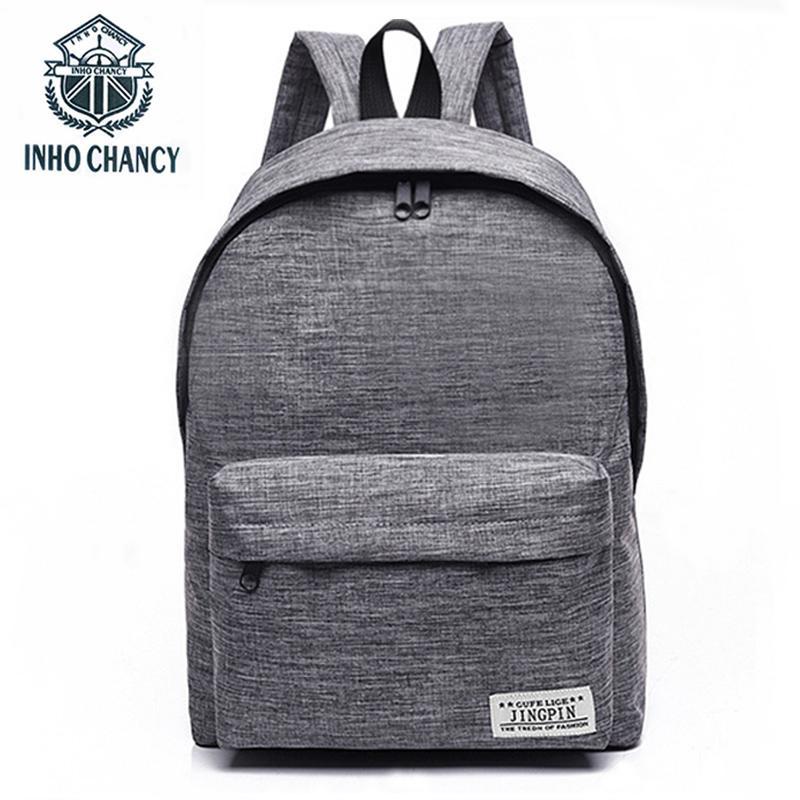 9ab96234e09 wholesale Fashion Canvas Backpack Men Women Children School Bag Back Pack  Ladies Knapsack Travel Bags For School Teenage Girls