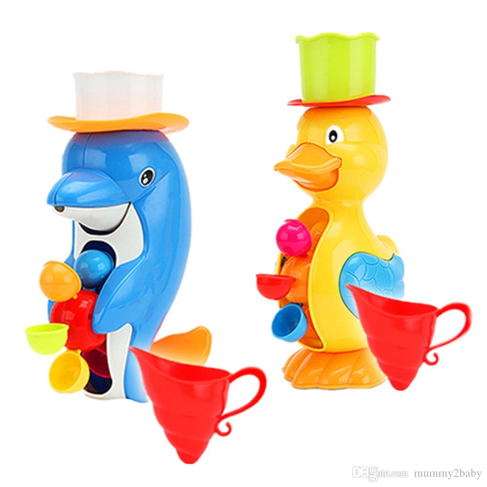 Baby Bath Taps Squirt Water Buttressed Spray Shower Toy Duck Shape ...