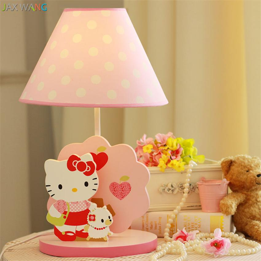 Modern Kids Bedroom Pink Table Lamps Hellokitty Cute Princess - Hello kitty lamps for bedroom