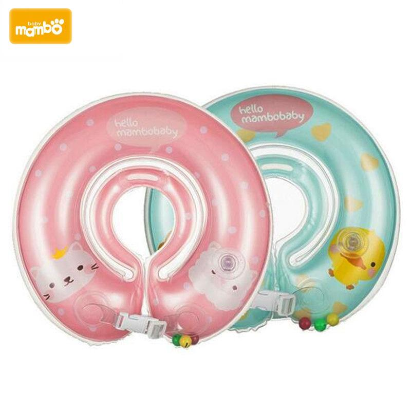1pcs Neck Float Swimming Newborn Baby Swimming Neck Ring With Pump Gift Mattress Cartoon Pool Swim Ring 0-2 Years Old Baby Mother & Kids Swimming Pool & Accessories