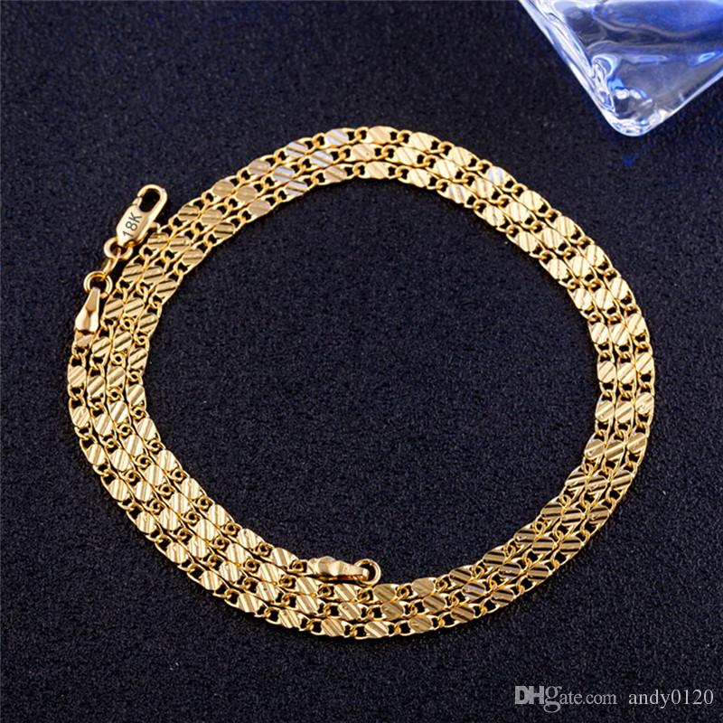 4504aac6404 2019 18k Yellow Gold Jewelry Necklace For Pendant Female Diamond Jewelry  Rope Chain Party Trendy Hot Sale Elegant Fashion Girl Gift From Andy0120