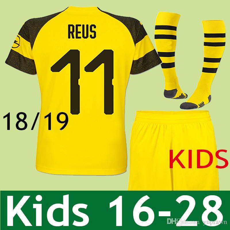 fe7d07ca24 Compre Borussia Dortmund BVB KIDS JERSEY 2018 2019 Marco Reus PULÍSIC  Camisa De Futebol M.GOTZE Maillot Trikot YARMOLENKO 18 19 Crianças  Batshuayi Home ...