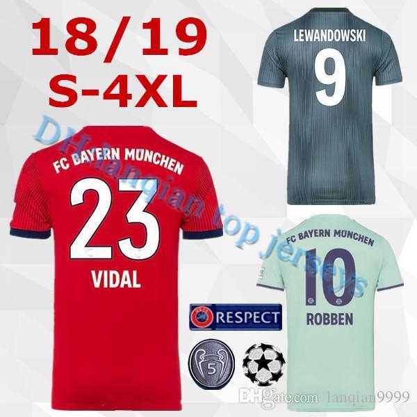S 4XL Top Thailand Bayern Munich JAMES RODRIGUEZ Soccer Jersey 2018 2019  LEWANDOWSKI MULLER KIMMICH Jersey 18 19 HUMMELS Football Shirt UK 2019 From  ... 65775caaf