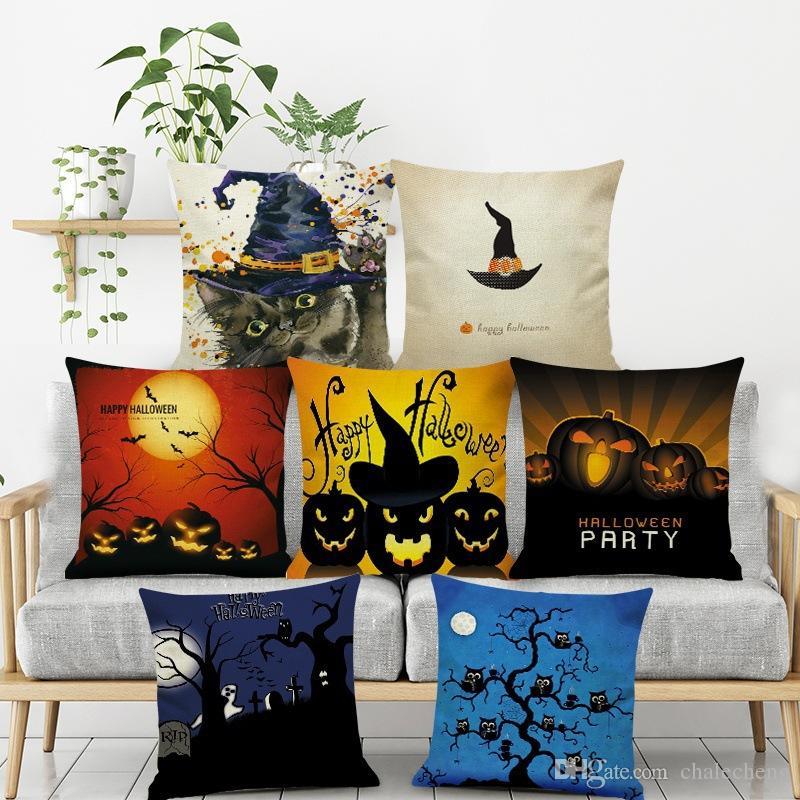 halloween bat owl pattern tree throw pillow cushion cover seat home rh dhgate com
