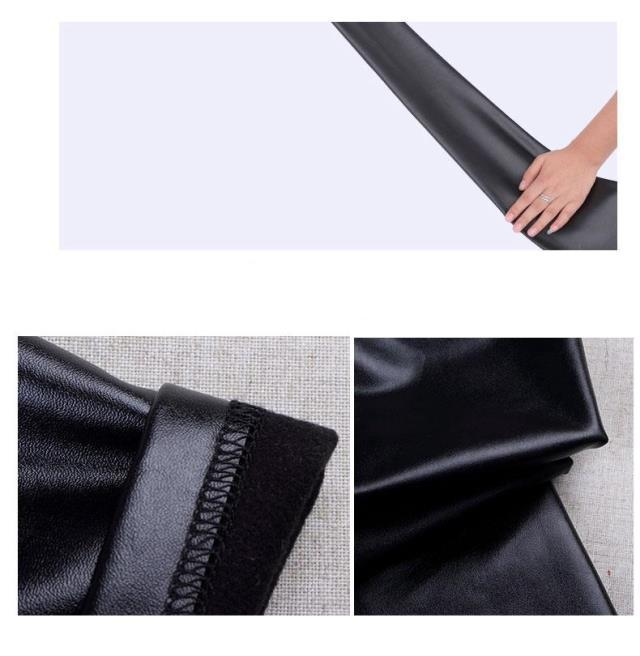 3-12 лет дети искусственная кожа брюки эластичные леггинсы девочка мальчики брюки зима толще или весна брюки Детская одежда