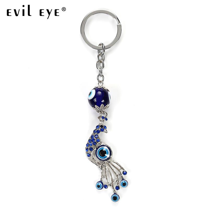 EVIL EYE New Fashion Turkey Evil Eye Peacock Charms Keychain For Women Girl  Decorative Keychain Bag MAN CAR EY4932 Designer Keyrings Monkey Fist  Keychain ... 3d6b76b398