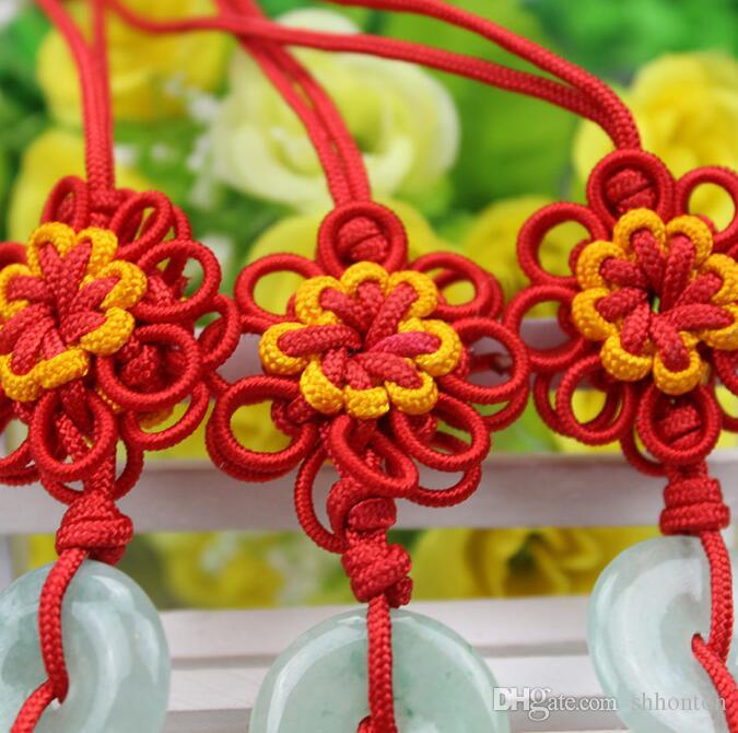 Sunflower jade Chinese knot pendant vertical soft clothing key tassel hanging ear about 33cm long FD13