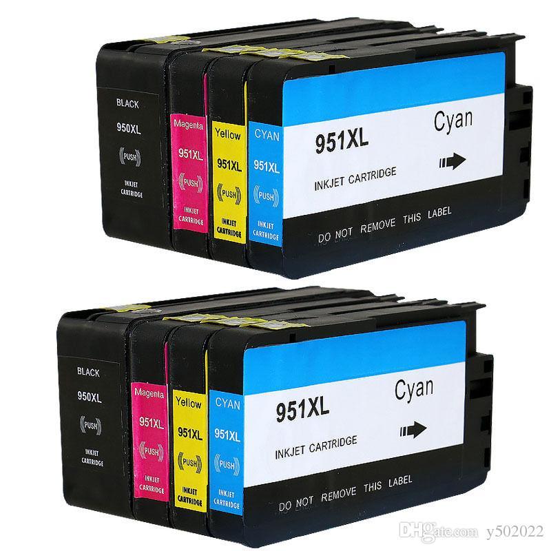 950XL 951XL Ink Cartridge For HP OfficeJet Pro 8100 8600 8610 8615 w/Chip 2  SET