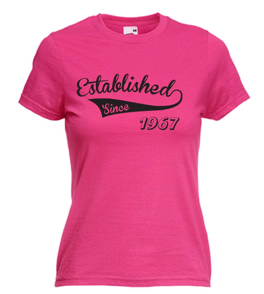 18th 21st 30th 40th 50th ESTABLISHED 19 ANY YEAR LADIES BIRTHDAY T SHIRT Shirt 1 From Bangtidyclothing 109